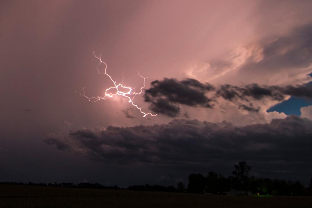 Southern Iowa lightning