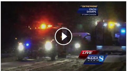 accident scene near Joice, Iowa