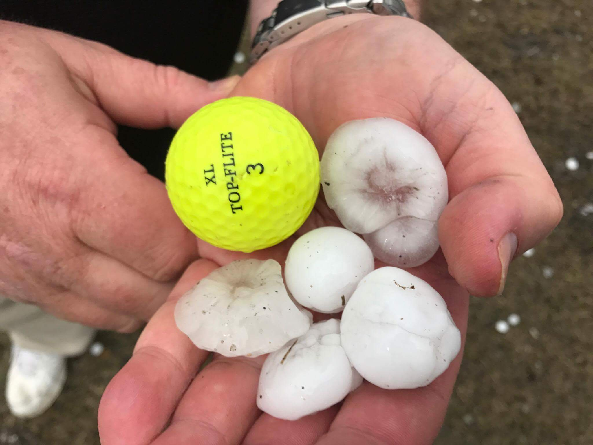 Hail in Humboldt Iowa