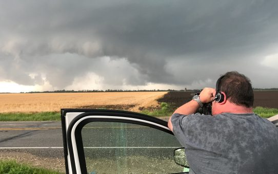 Todd Rector filming a tornado near Salem Iowa