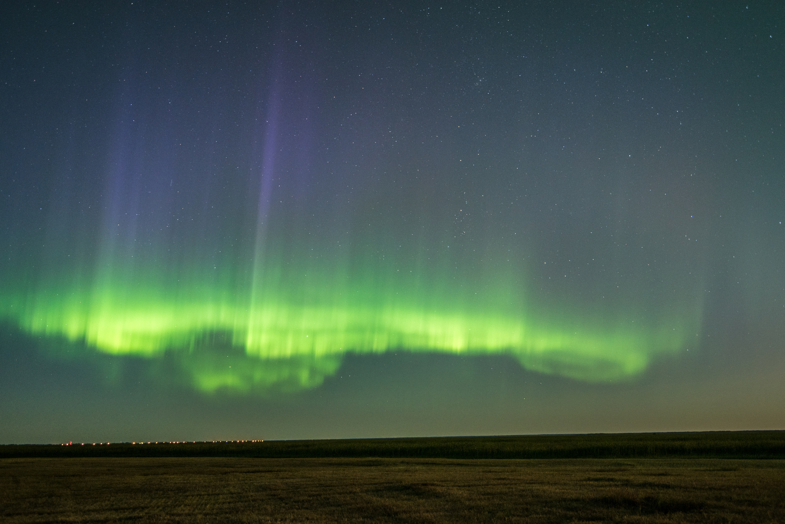 Aurora in Manitoba, Canada on September 7th, 2017